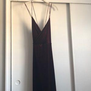 Long burgundy maxi dress